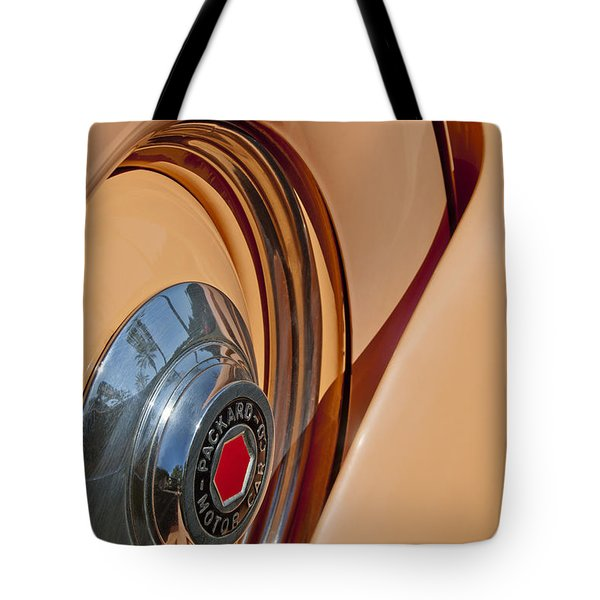 1936 Packard Spare Tire  Tote Bag by Jill Reger