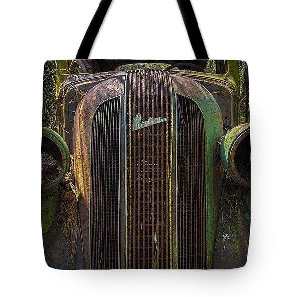 1936 Pontiac Head On Tote Bag