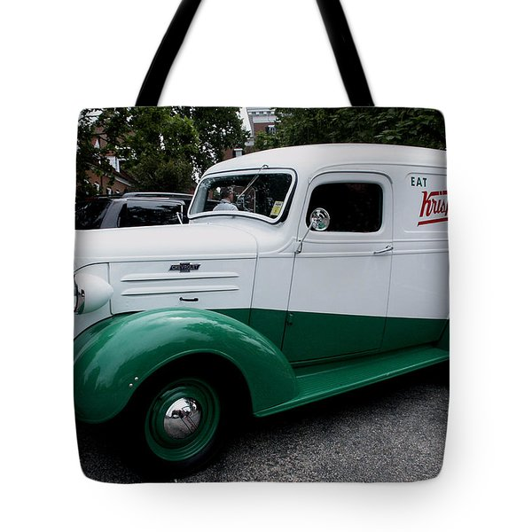 1937 Chevy Delivery Van Tote Bag by James C Thomas
