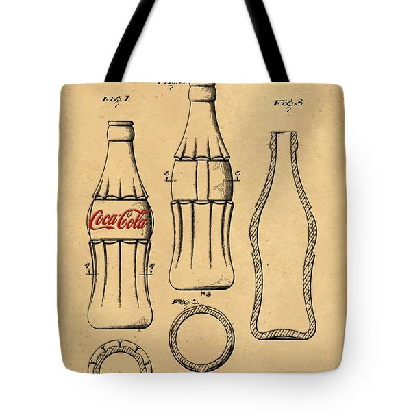 1937 Coca Cola Bottle Design Patent Art 5 Tote Bag