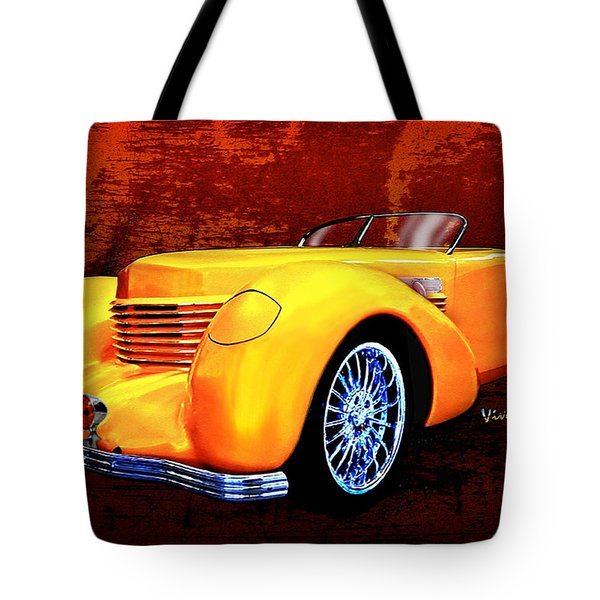 1937 Cord Coffin Nose Speedster Concours On Toast Tote Bag