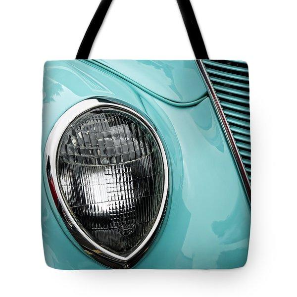 1937 Ford Sedan Slantback Square Tote Bag by Carol Leigh