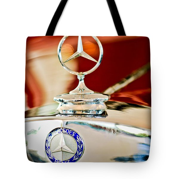 1937 Mercedes-benz Cabriolet Hood Ornament Tote Bag by Jill Reger