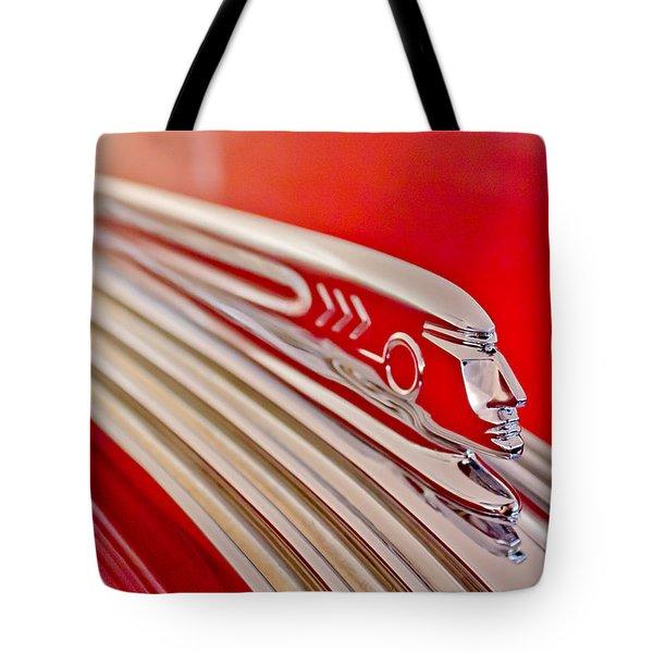 1937 Pontiac Chief Custom Hood Ornament Tote Bag by Jill Reger