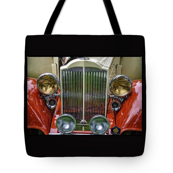 Tote Bag featuring the photograph 1928 Classic Packard 443 Roadster by Thom Zehrfeld