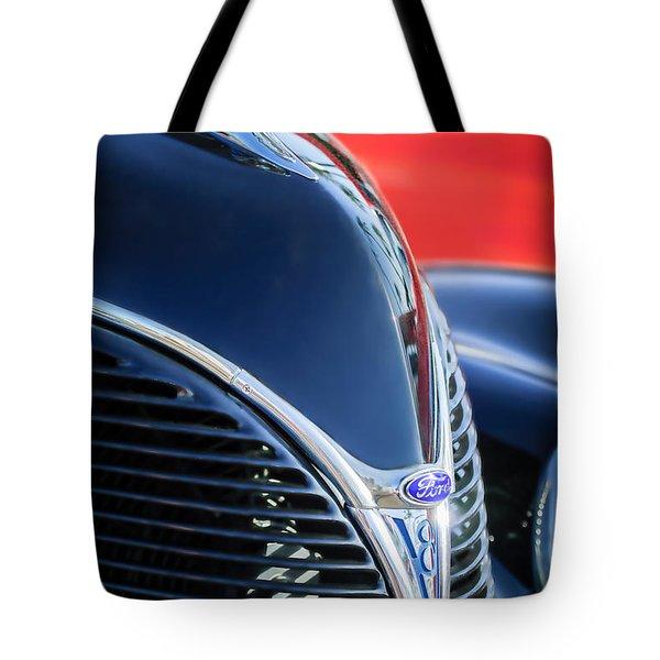 1938 Ford Hood Ornament - Grille Emblem -0089c Tote Bag