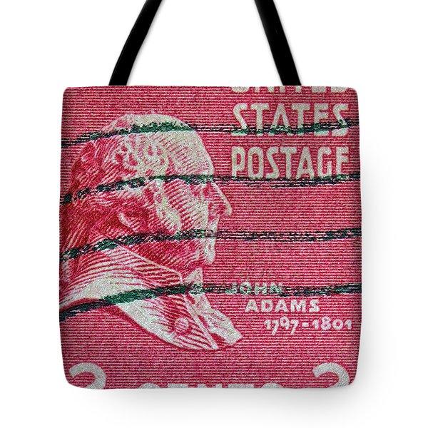 1938 John Adams Stamp Tote Bag by Bill Owen