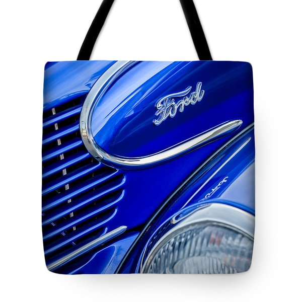 1939 Ford Woody Wagon Side Emblem Tote Bag by Jill Reger