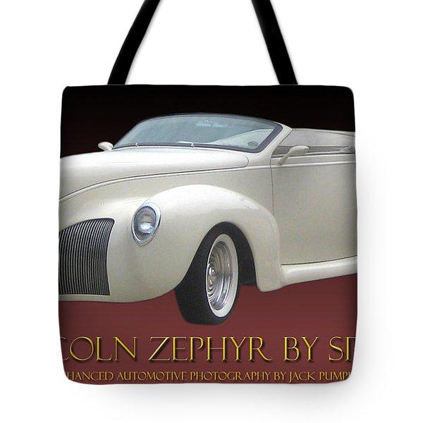 1939 Lincoln Zephyr Poster Tote Bag by Jack Pumphrey