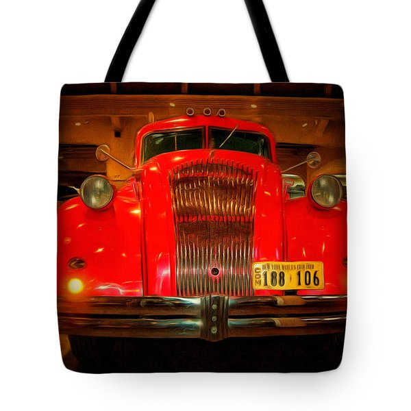 1939 World's Fair Fire Engine Tote Bag