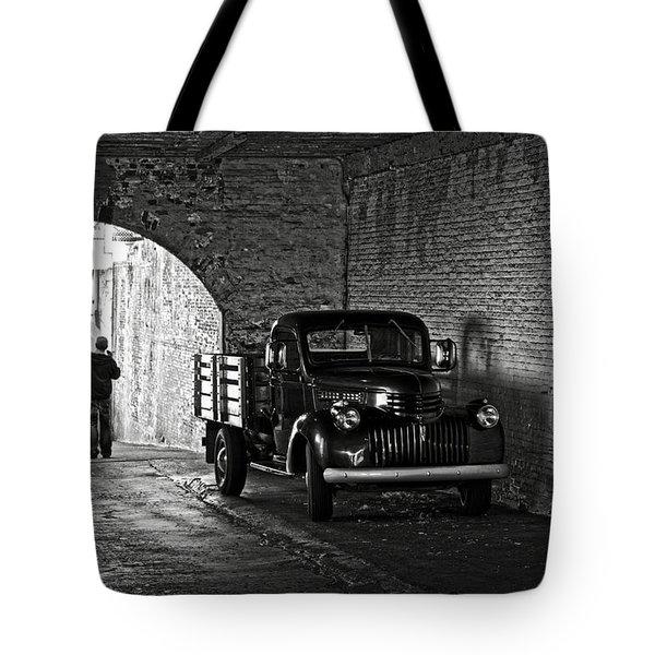 1940 Chevrolet Pickup Truck In Alcatraz Prison Tote Bag by RicardMN Photography
