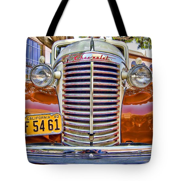 Tote Bag featuring the photograph 1940 Chevy Sedan by Jason Abando