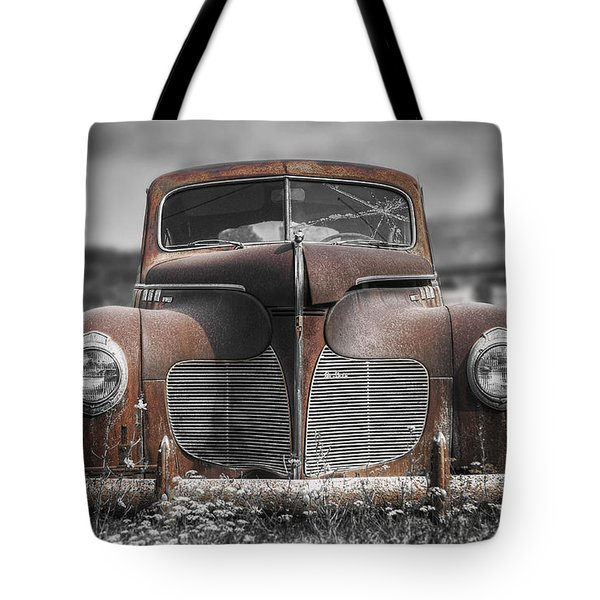 1940 Desoto Deluxe With Spot Color Tote Bag