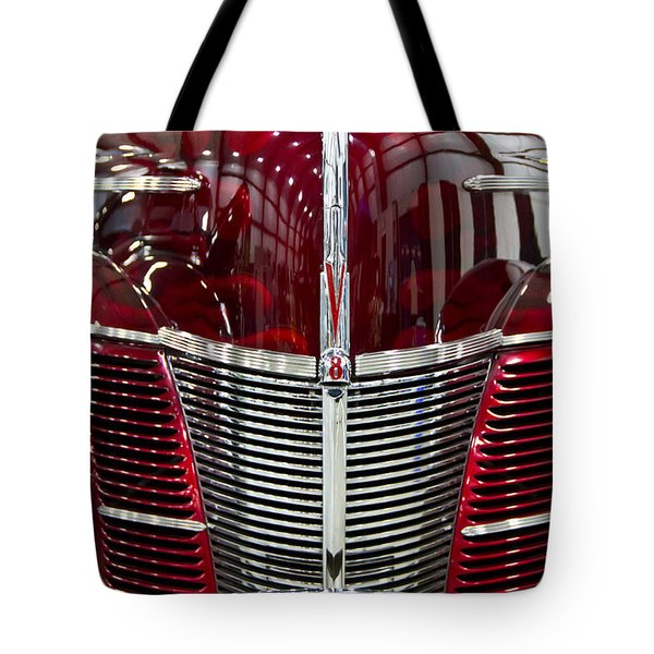1940 Ford V8 Grill  Tote Bag by Eti Reid