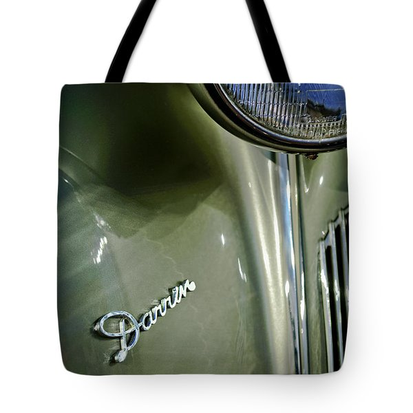 1940 Packard Super Eight One-eighty Darrin Convertible Sedan Headlight Emblem Tote Bag by Jill Reger