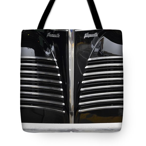 Tote Bag featuring the photograph 1940 Plymouth  by Nadalyn Larsen