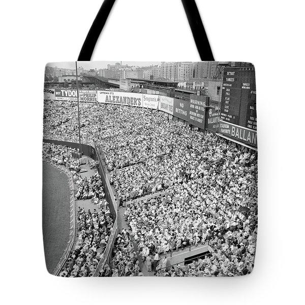 1940s 1950s Large Crowd Yankee Stadium Tote Bag