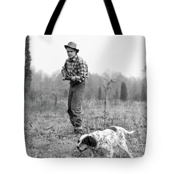 1940s 1950s Man Hunter Plaid Shirt Tote Bag