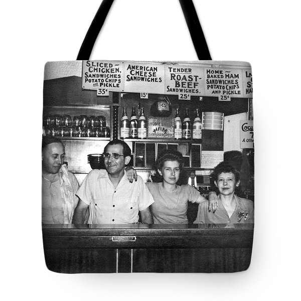 1940's Diner And Its Staff Tote Bag