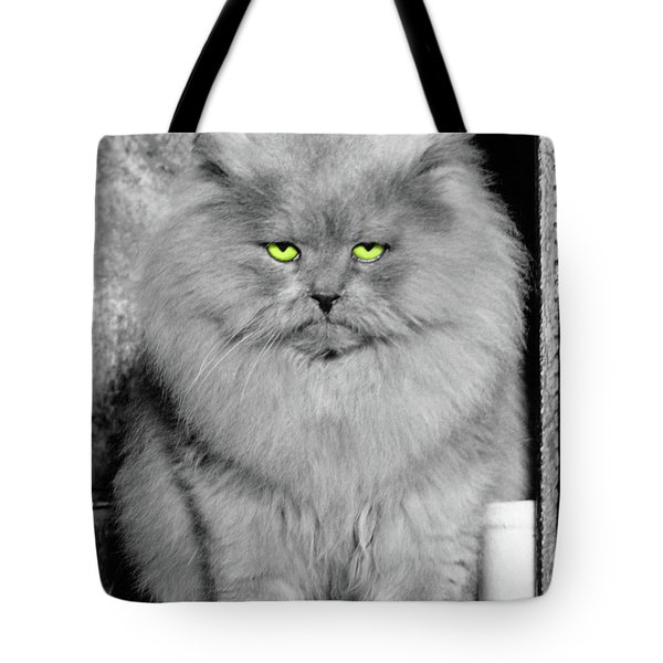 1940s Long Hair Blue Persian Cat Tote Bag