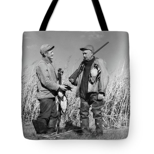 1940s Two Men Duck Hunting Standing Tote Bag