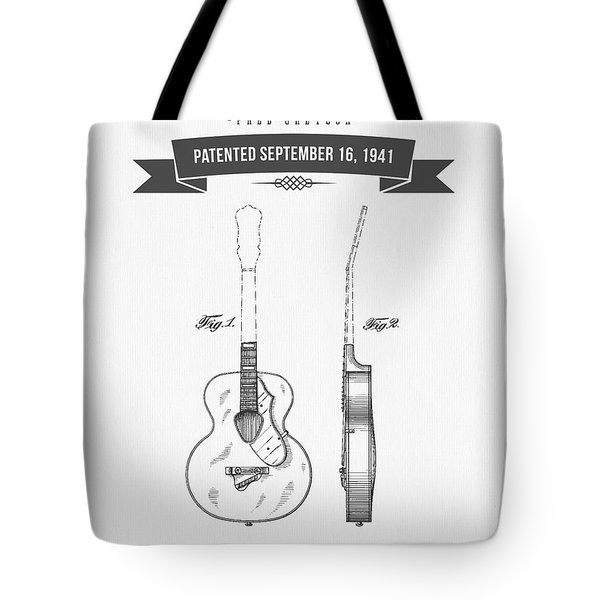 1941 Guitar Patent Drawing Tote Bag