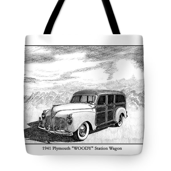 1941 Plymouth Woody Tote Bag by Jack Pumphrey