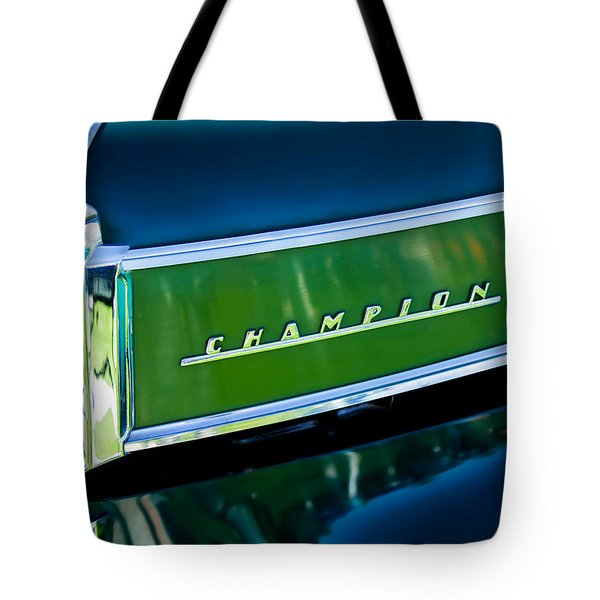 1941 Sudebaker Champion Coupe Emblem Tote Bag by Jill Reger