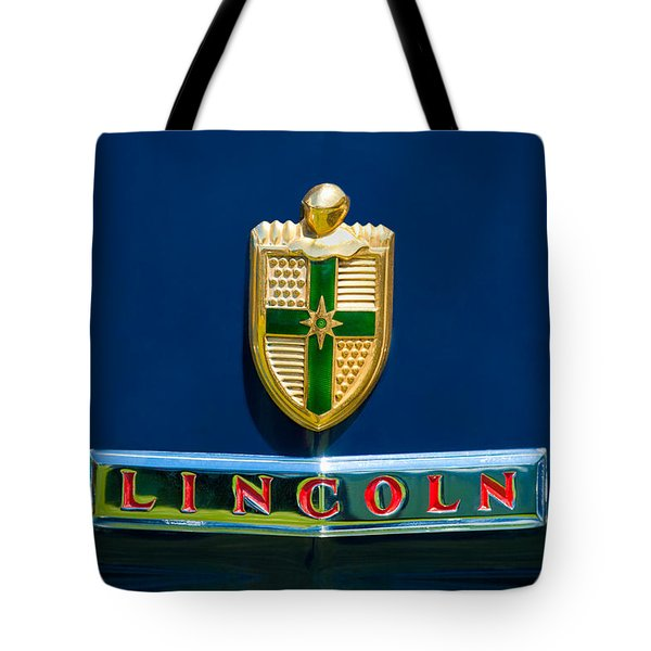 1942 Lincoln Continental Cabriolet Emblem Tote Bag