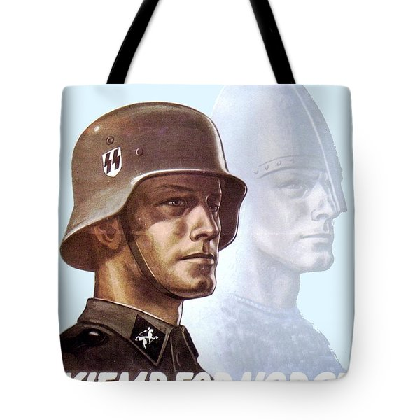 1943 - German Waffen Ss Recruitment Poster - Norway - Color Tote Bag
