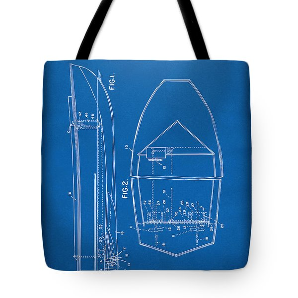 1943 Chris Craft Boat Patent Blueprint Tote Bag by Nikki Marie Smith