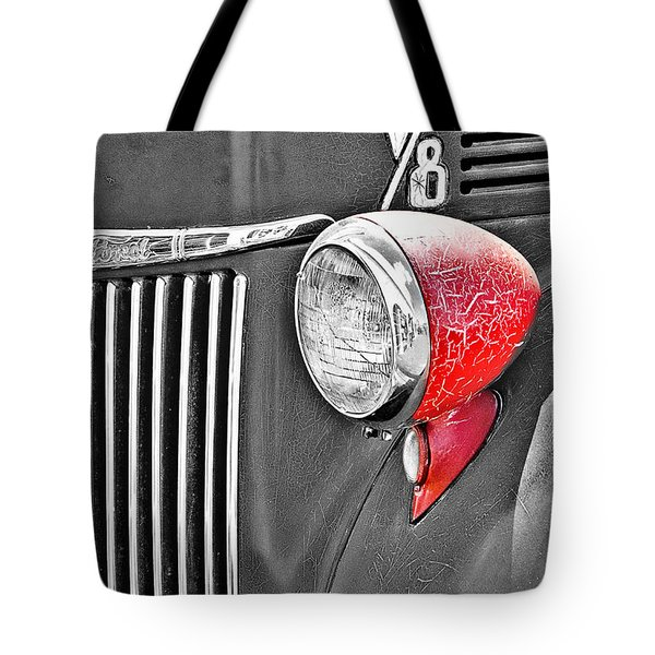 1944 Ford Pickup - Headlight - Sc Tote Bag by Mary Carol Story