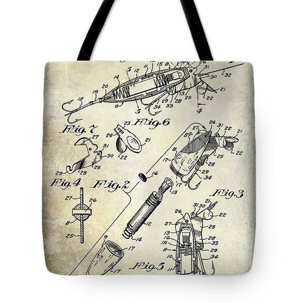 1940 Illuminated Bait Patent Drawing Tote Bag
