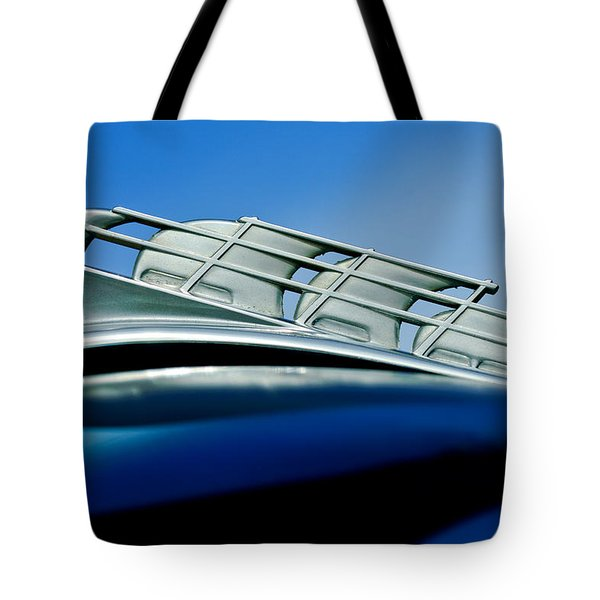 1946 Plymouth Hood Ornament Tote Bag by Jill Reger