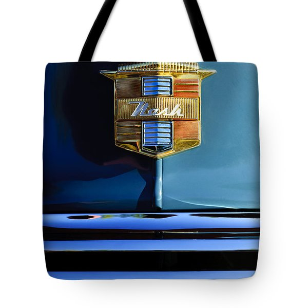 1947 Nash Surburban Hood Ornament Tote Bag by Jill Reger