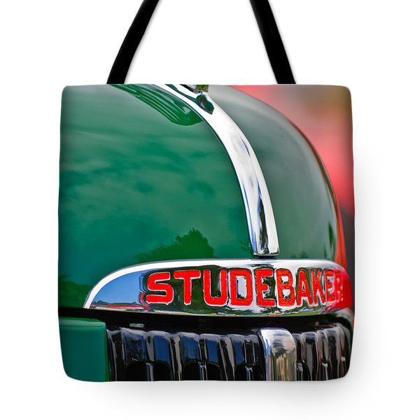 1947 Studebaker M5 Pickup Truck Grill Emblem - Hood Ornament Tote Bag