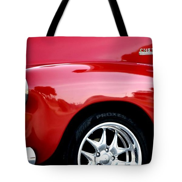 1948 Chevy Thriftmaster 3100 Tote Bag
