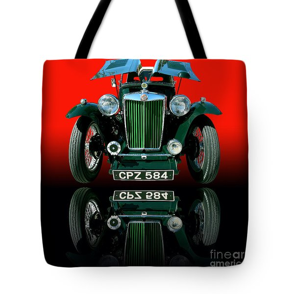 1948 Mg Tc Roadster Tote Bag by Jim Carrell