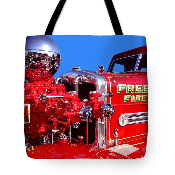 1949 Ahrens Fox Piston Pumper Fire Truck Tote Bag