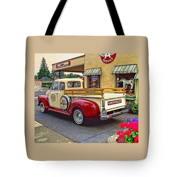1949 Chevy Truck Tote Bag