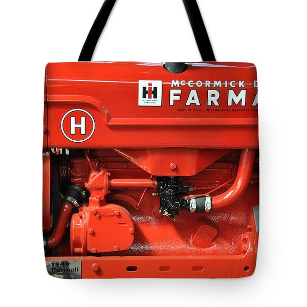 Tote Bag featuring the photograph 1949 Farmall Tractor by John Black