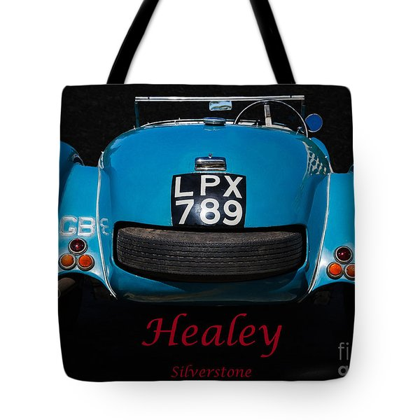 Tote Bag featuring the photograph 1949 Healey Silverstone by Mitch Shindelbower