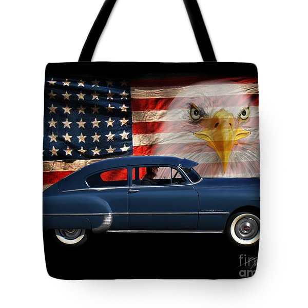 Tote Bag featuring the photograph 1949 Pontiac Tribute Roger by Peter Piatt