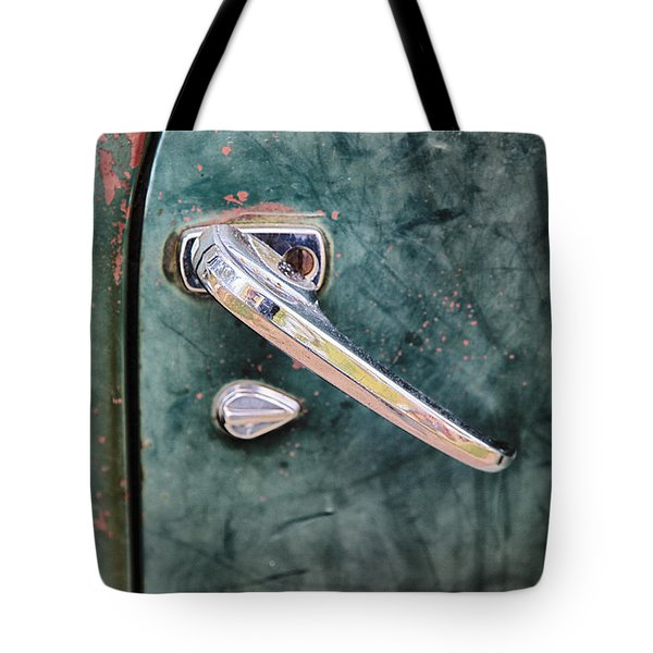 1950 Classic Chevy Pickup Door Handle Tote Bag by Adam Romanowicz