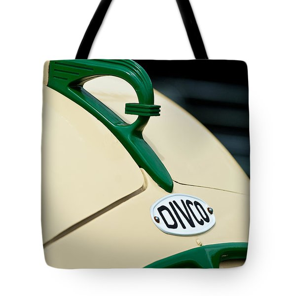 1950 Divco Milk Truck Hood Ornament Tote Bag by Jill Reger