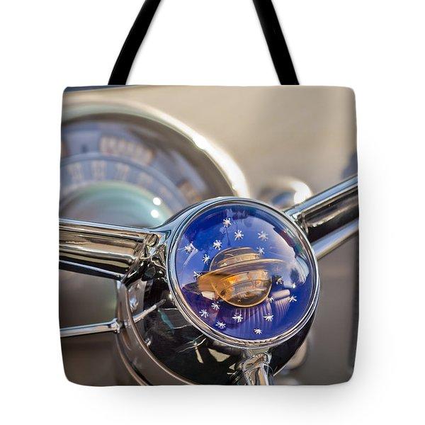 1950 Oldsmobile Rocket 88 Steering Wheel Tote Bag by Jill Reger