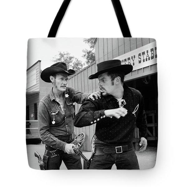1950s 1960s Cowboy Sheriff Marshall Tote Bag