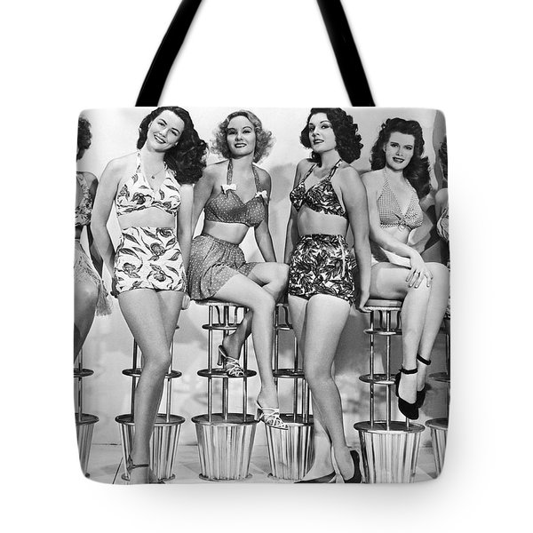 1950s Bathing Suits Tote Bag