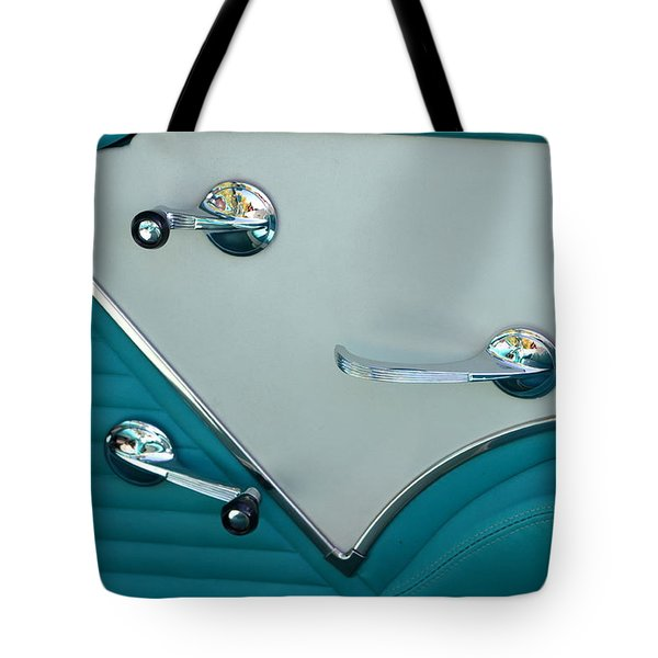 Tote Bag featuring the photograph 1950's Chevy Interior by Dean Ferreira