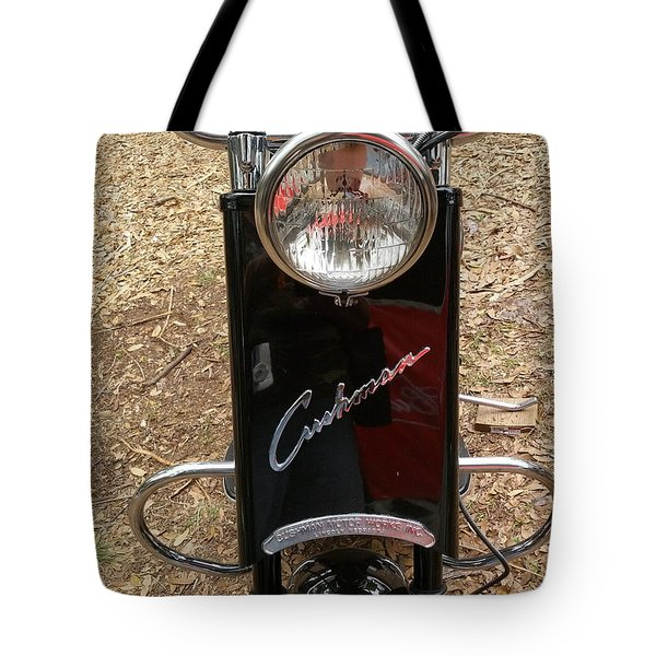 Tote Bag featuring the photograph 1950's Cushman by Fortunate Findings Shirley Dickerson